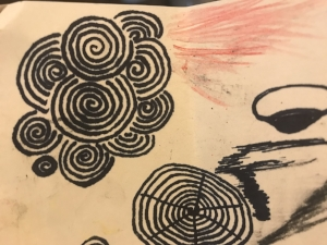 disossociative doodling art therapy
