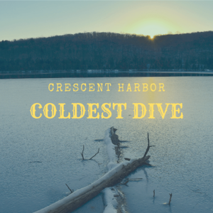 Diving in freezing cold waters of the Puget Sound in winter — A