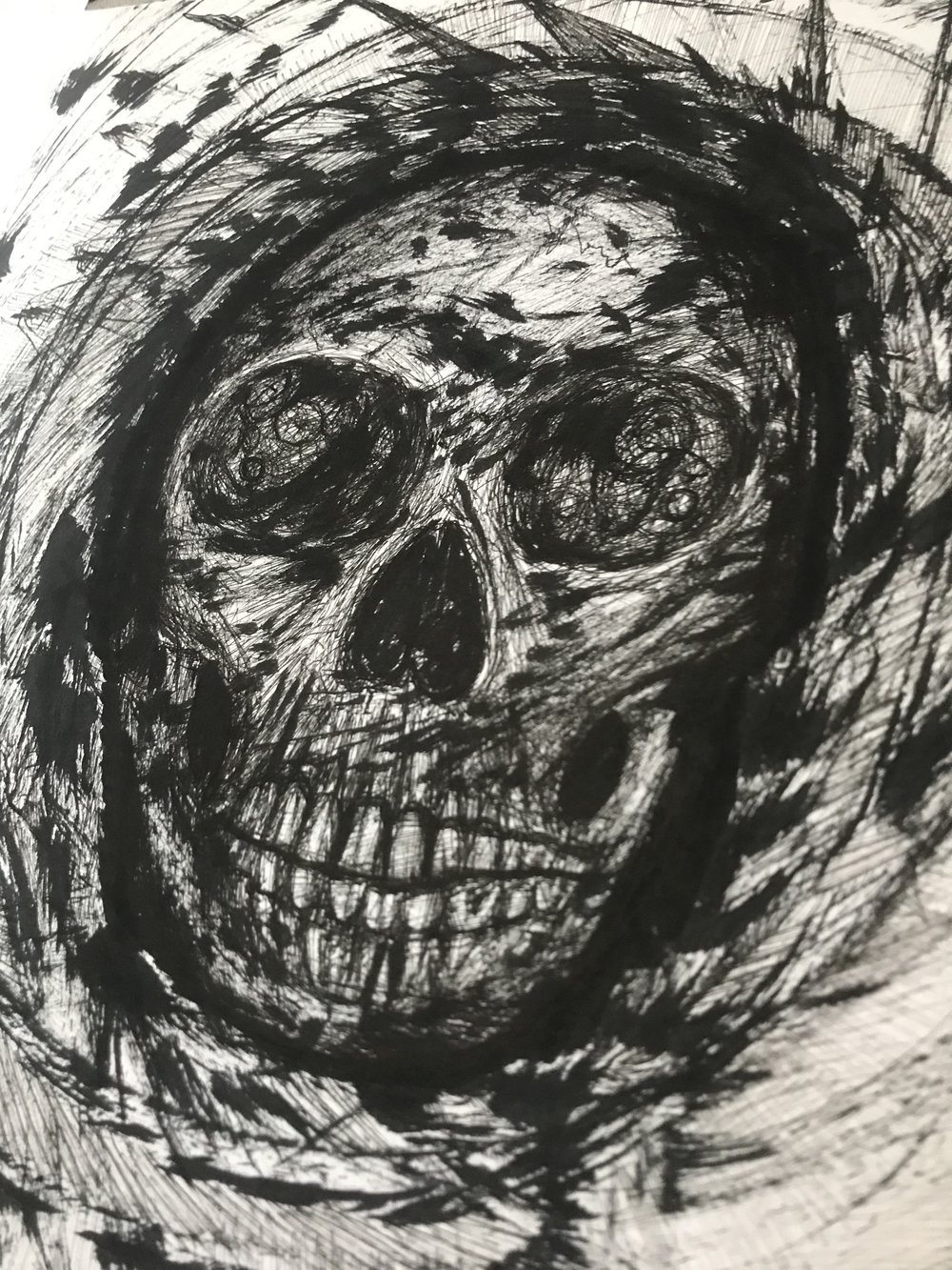 Inner self apocalypse skull art therapy
