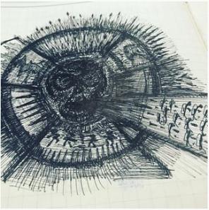 Art therapy ideas scribble fear feelings