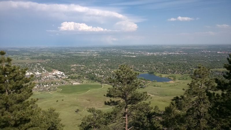 Looking east over Boulder, Colorado