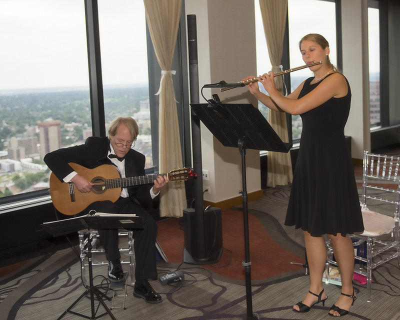 Flute and Guitar Duo  Wedding Music at the Denver Hyatt