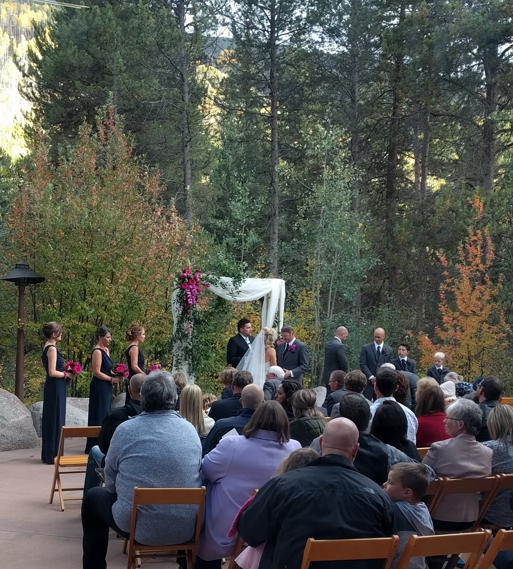 Flute quartet wedding ceremony music at the Donovan Pavilion in Vail, Colorado
