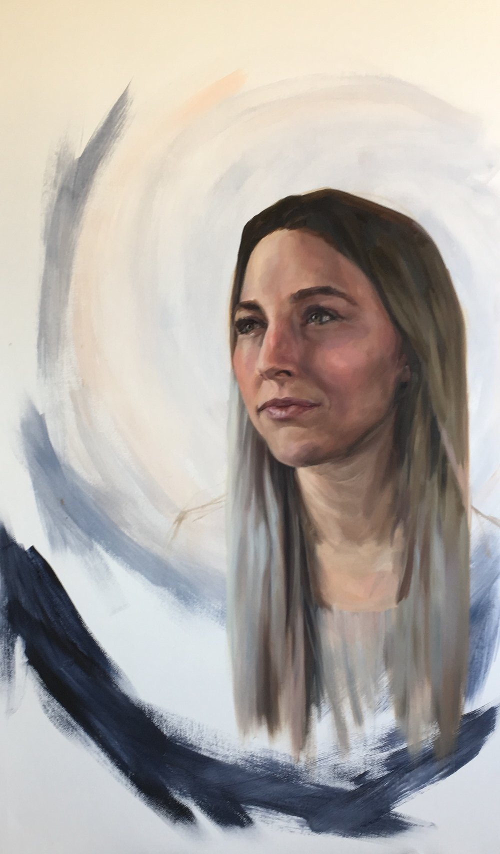 St. Perpetua Oil on Panel, 35″ x 60″ by Melissa Carmon