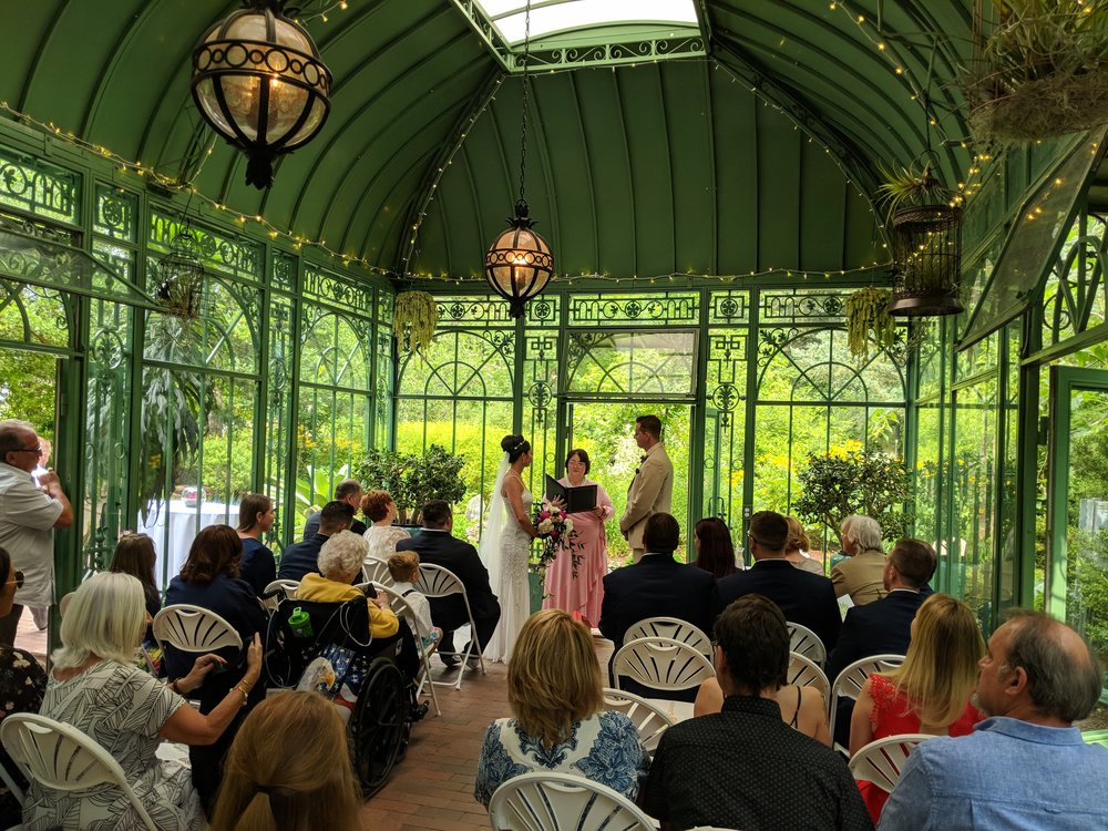 Flute and Cello Duo Wedding Ceremony Music at the Denver Botanic Gardens