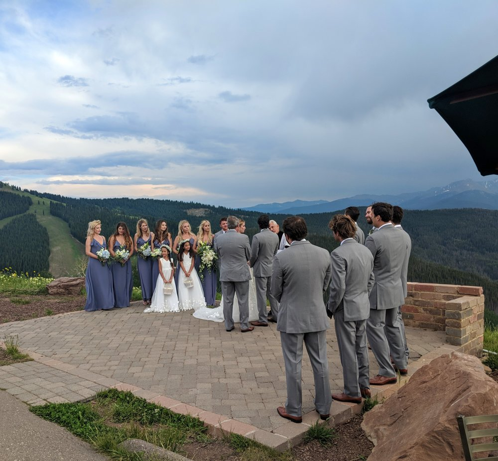 Flute Quartet wedding ceremony music on the Vail Wedding Deck in Colorado