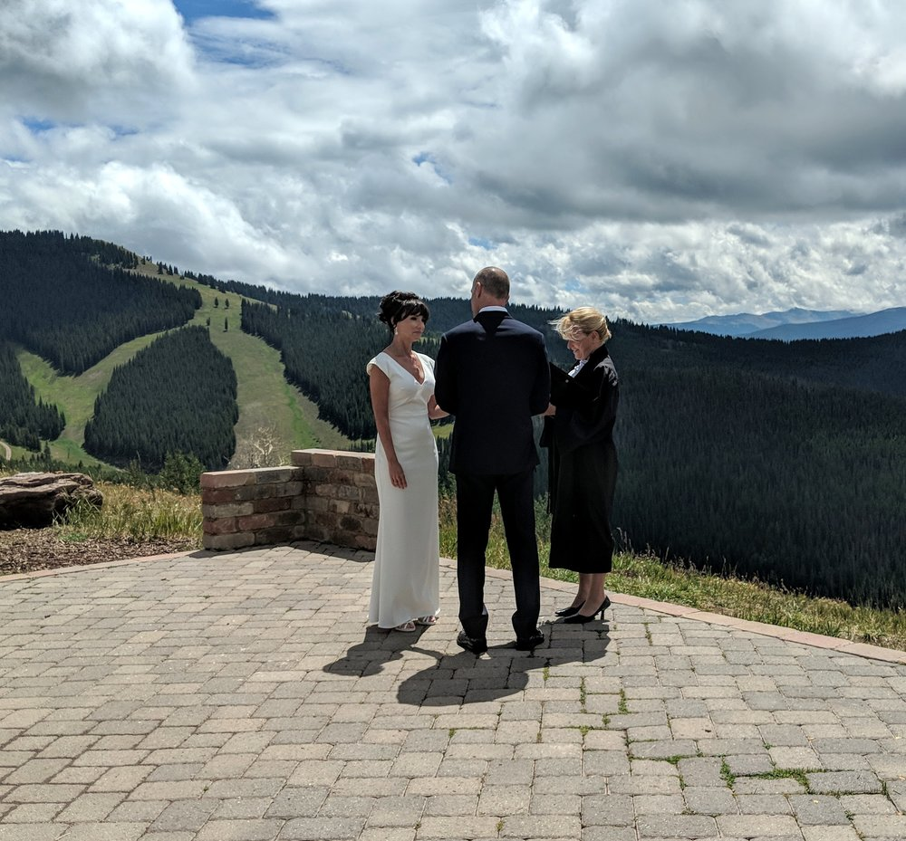 Flute and Violin Duo Wedding Music in Vail, Colorado - Vail Wedding Deck