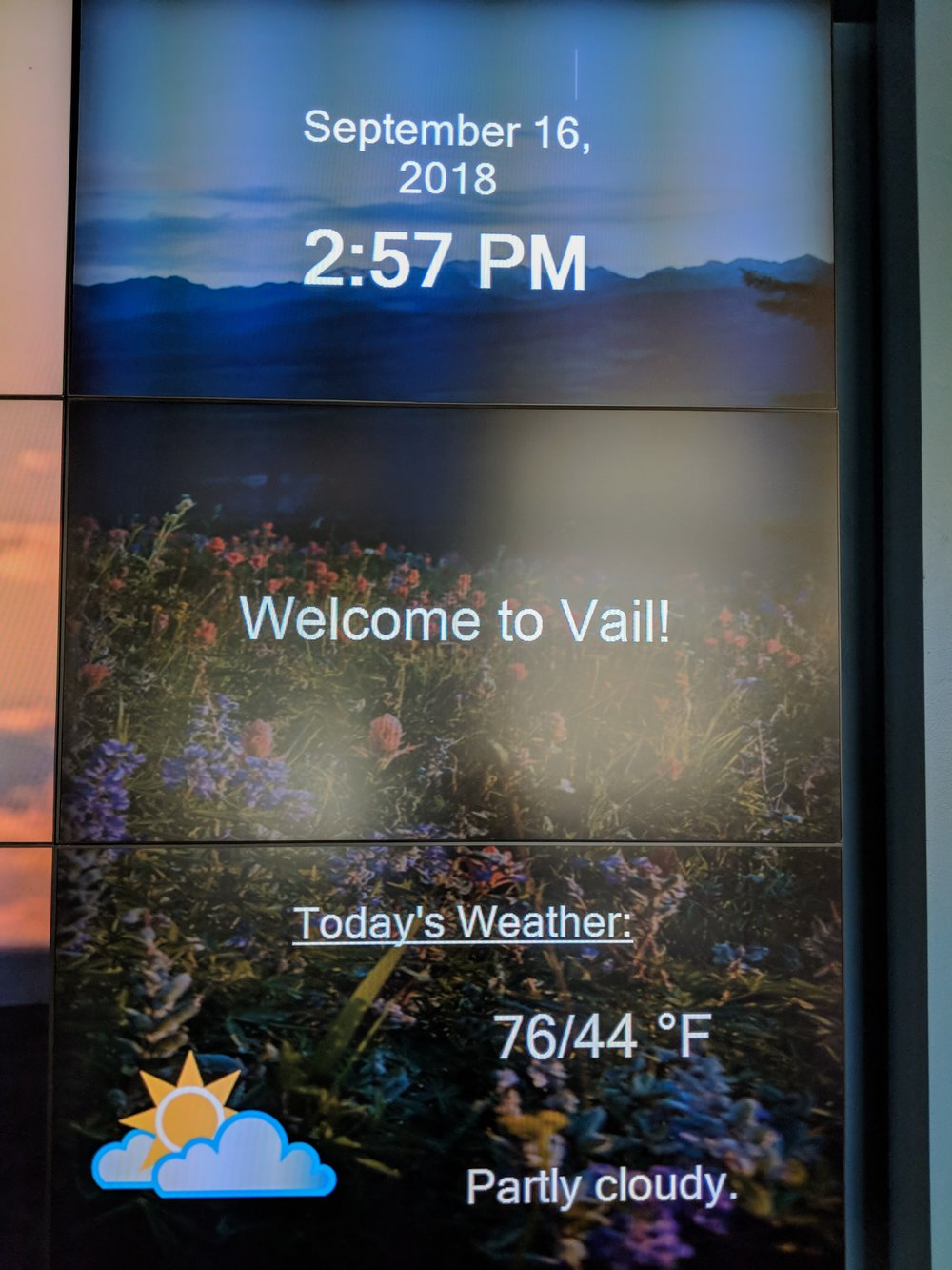 A perfect day at the Vail Visitor's Center