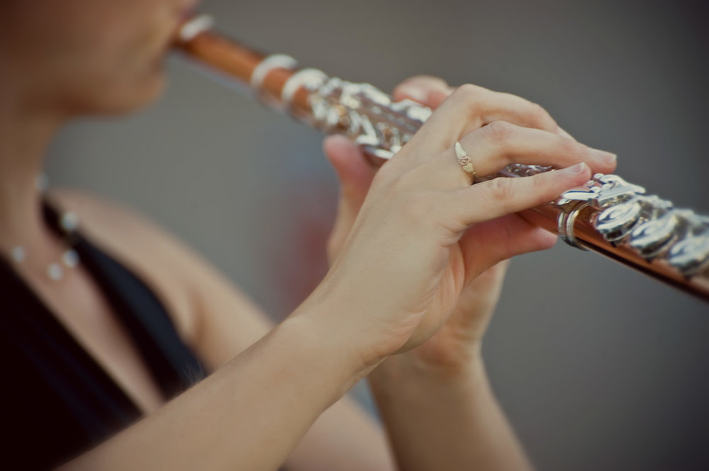 Solo flute wedding ceremony music, photo by rebecca marie photography