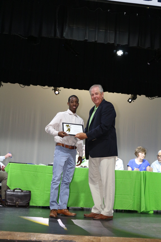 Scholarship winner Devin Martin
