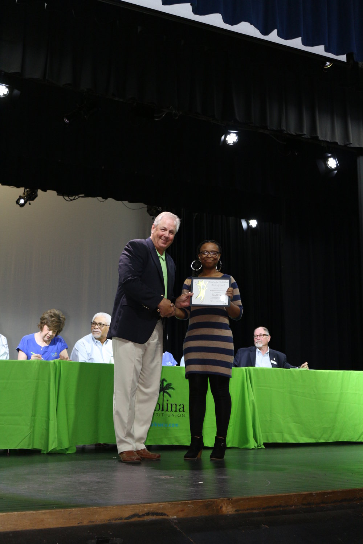 Scholarship winner Kendall Harp