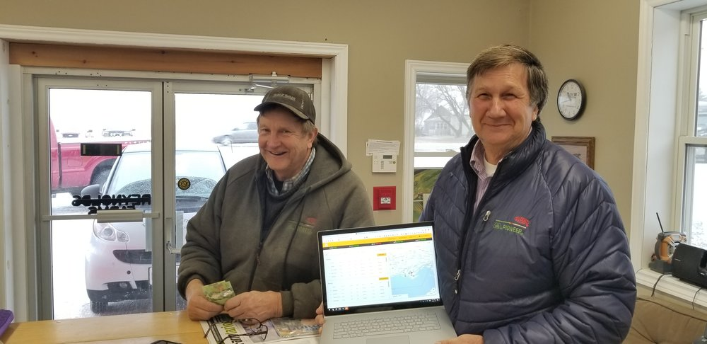 Larry and Lloyd piloting the Grain Discovery Trading platform