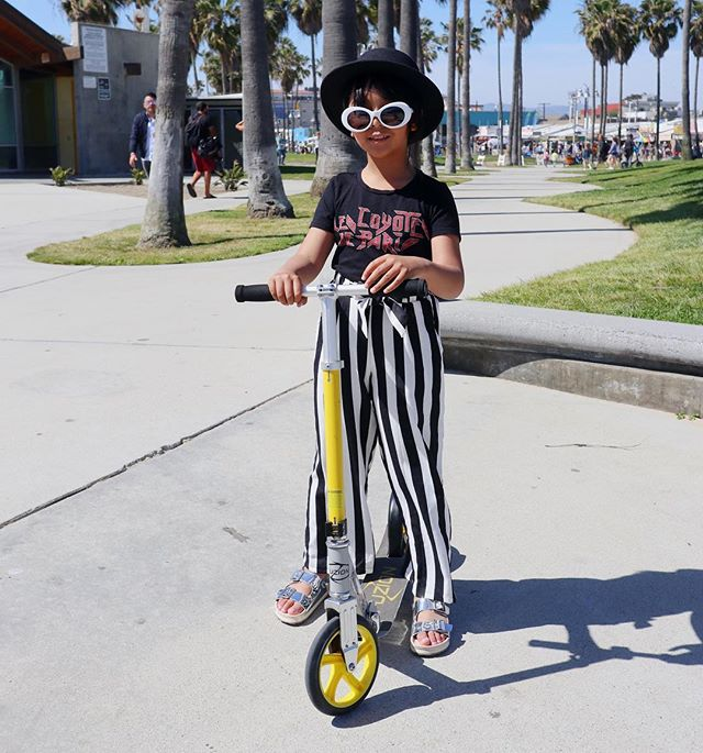 Kick Push Coast 🛴 Believe it or not, this is Neela's first time on the scooter and though she struggled (balance can be a challenge for kids with ASD) we're proud of her for trying and persisting even though it scared her. It was a learning experience for us as her parents to let her try and fail more - sometimes growth comes from experience and if we rob her of failures, we rob her of the skill of getting up and trying again.
