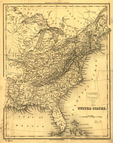1800s Usa Map Aph - Us-map-1800s