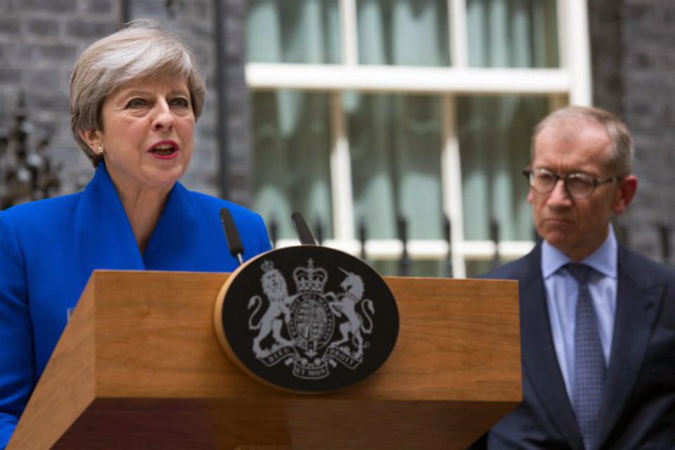 Theresa May faces opposition for her Brexit negotiating strategy. Photo credit: HM Government, accessed via Wikimedia Commons