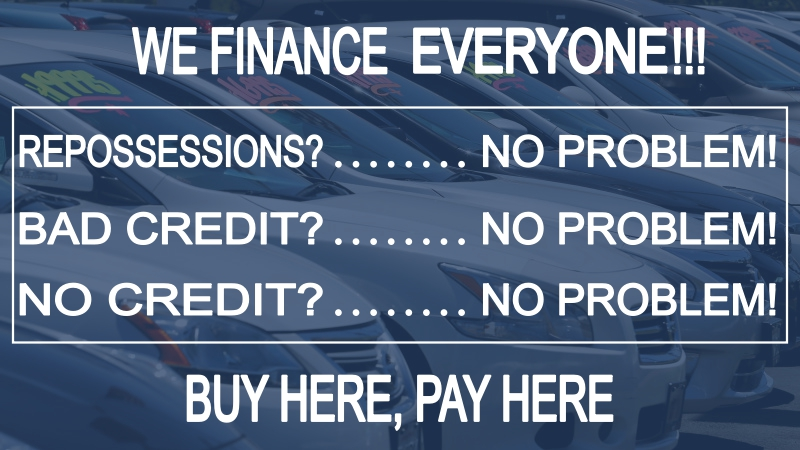 Buy Here Pay Here In-House Financing