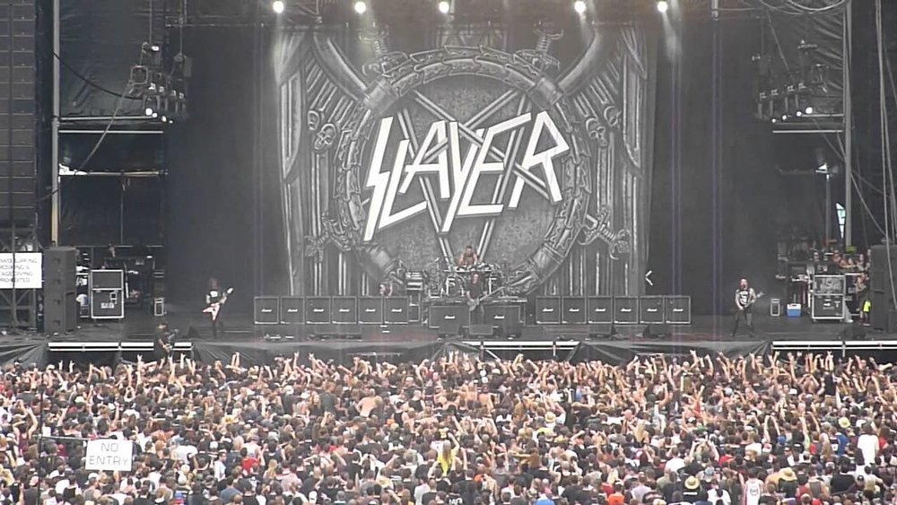 Slayer   Backdrop during performance