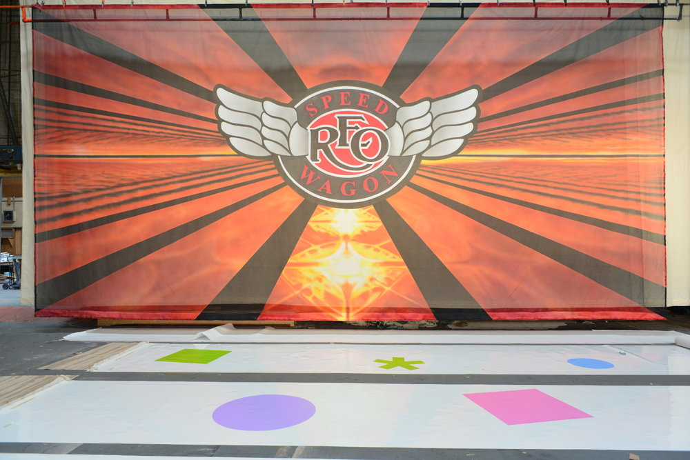 REO Speedwagon   Hand painted scrim