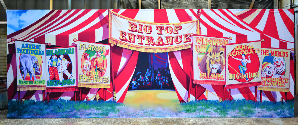 Circus Tent pop up drop