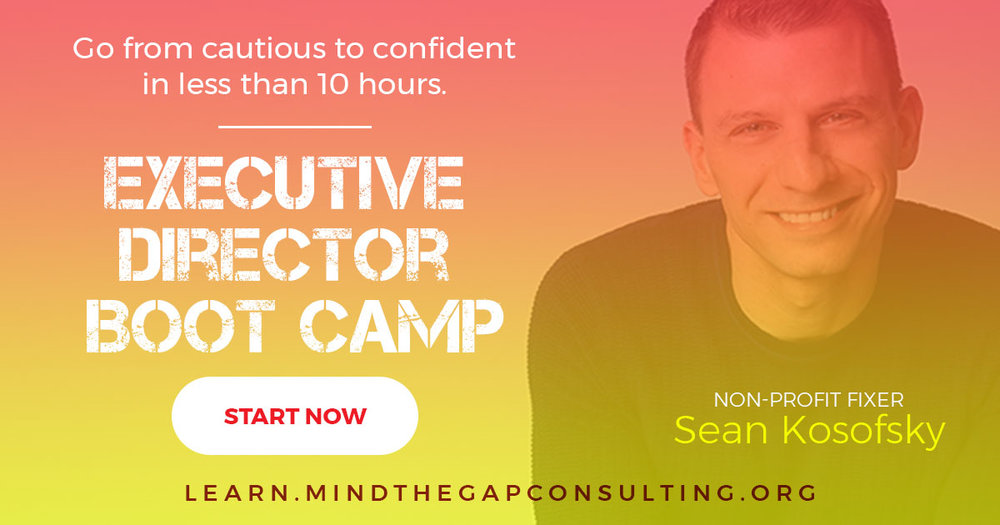 Executive Director Boot Camp: From Cautious to Confident.