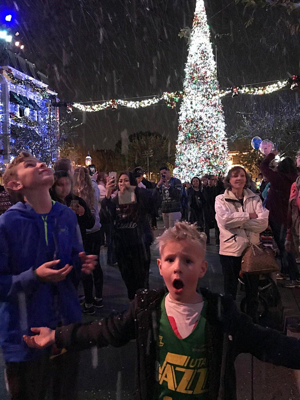 Snow at Disneyland