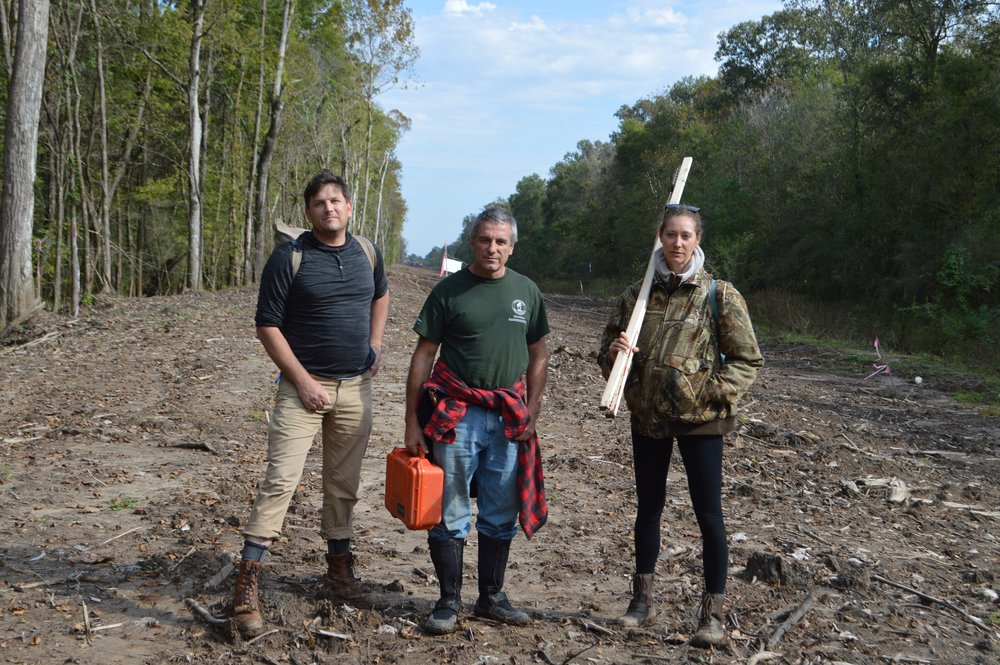 ABK has continually monitored construction of the Bayou Bridge pipeline across the treasured Atchafalaya Basin    (L) Scott GRN (M) Dean ABK (R) Misha ABK