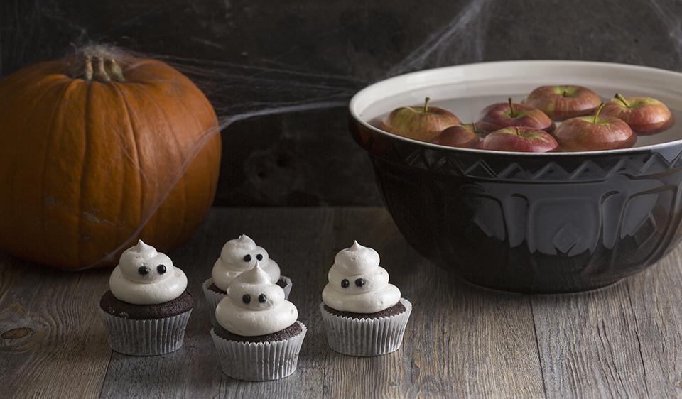 Mason Cash Mixing Bowls Ghost Cupcakes