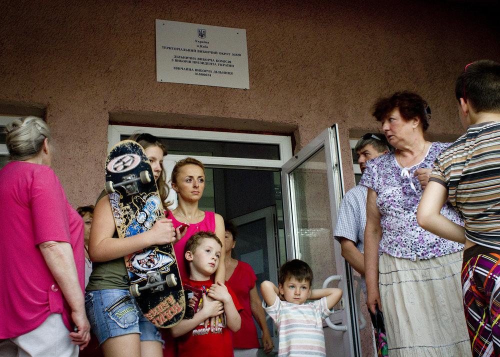 Polling Station, Kiyv, 2014