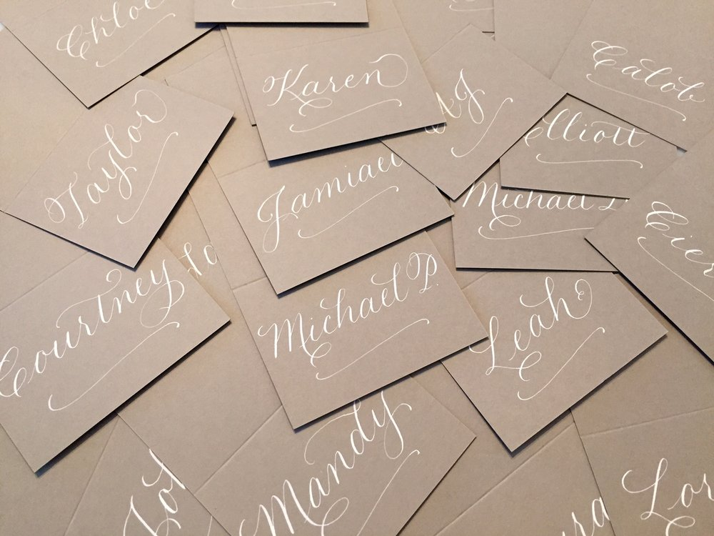 PLACE CARDS/ESCORT CARDS