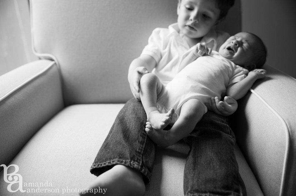 Baby Girl Newborn- Big Brother- San Francisco Newborn Photographer