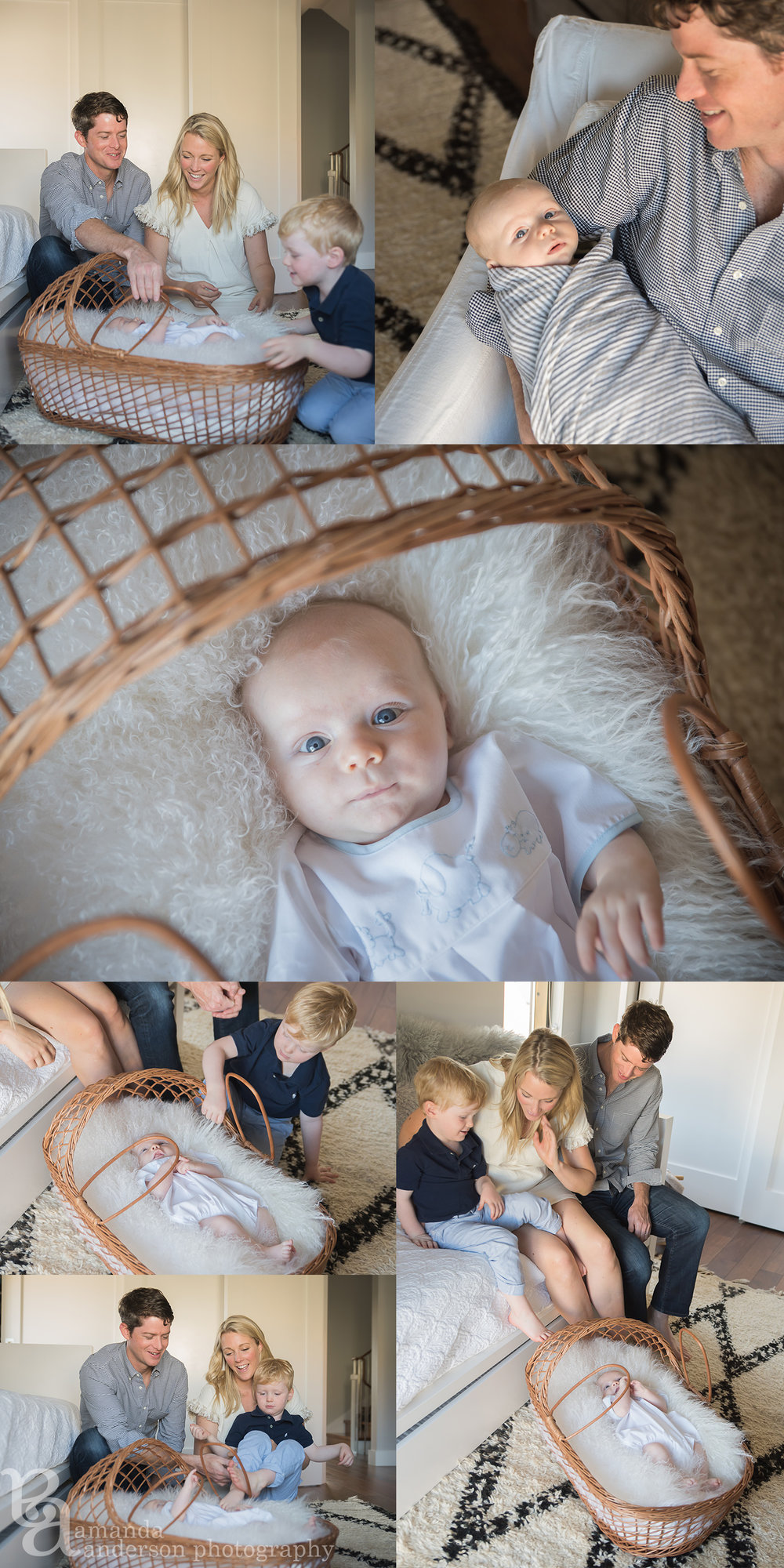 San Francisco Lifestyle Family Session with newborn baby boy