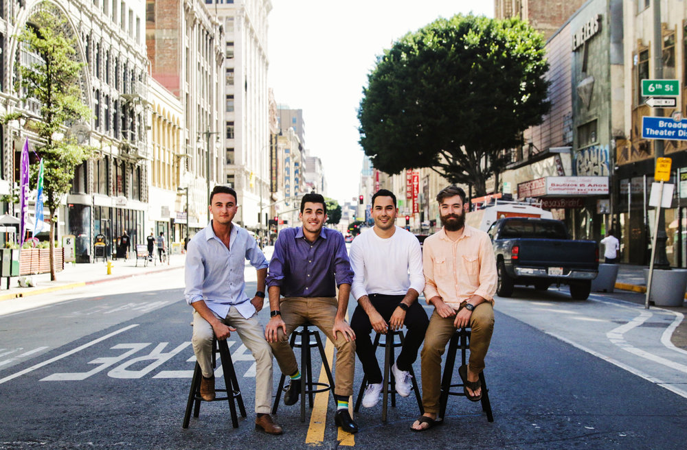 From left to right: Ben Taft (CEO), Matt Stern (COO), Montana Reed (CPO), Evan Bovie (CTO)