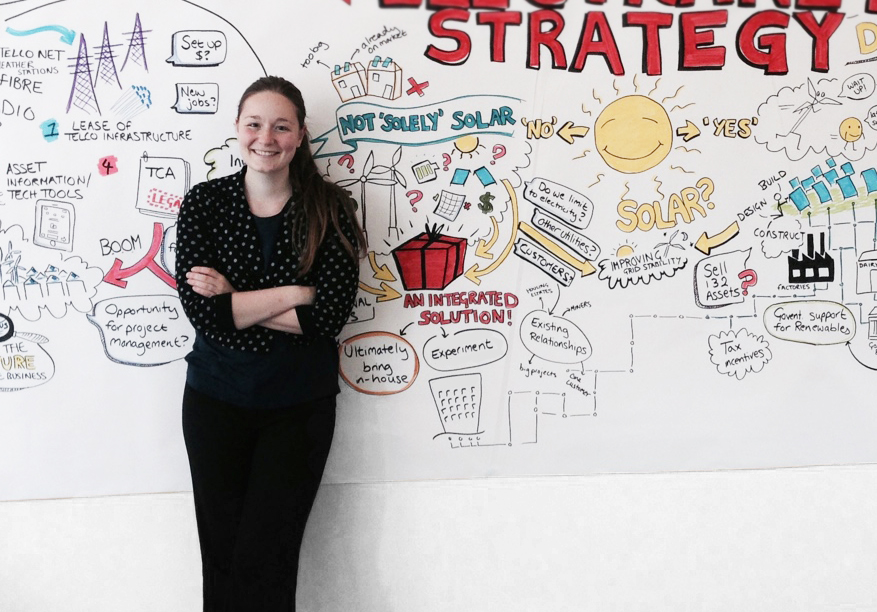 Victoria with her first Graphic Recording peice