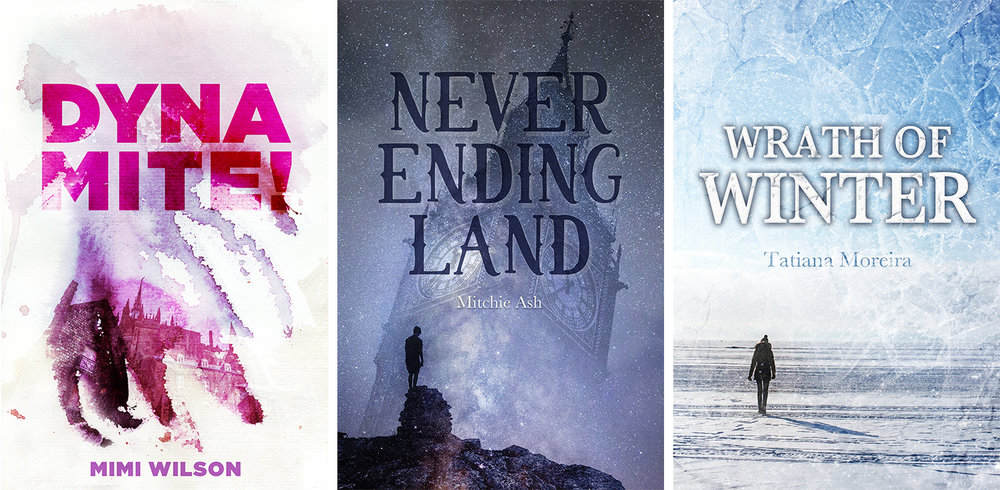 Book covers created for NaNoWriMo Authors in 2017