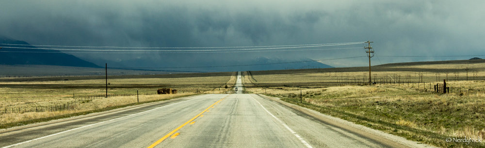 Arriving in the San Luis Valley Colorado