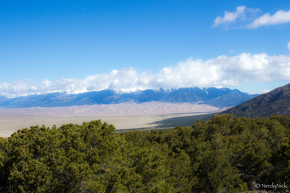 Morning over The Great Sand Dunes National Park