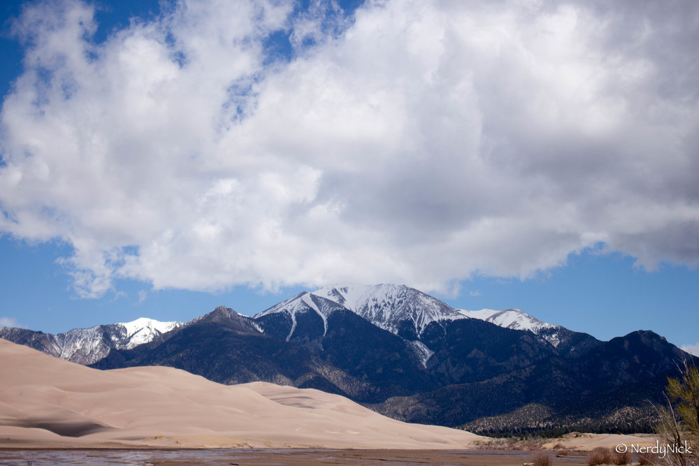 Mt Herard towering over The Great Sand Dunes
