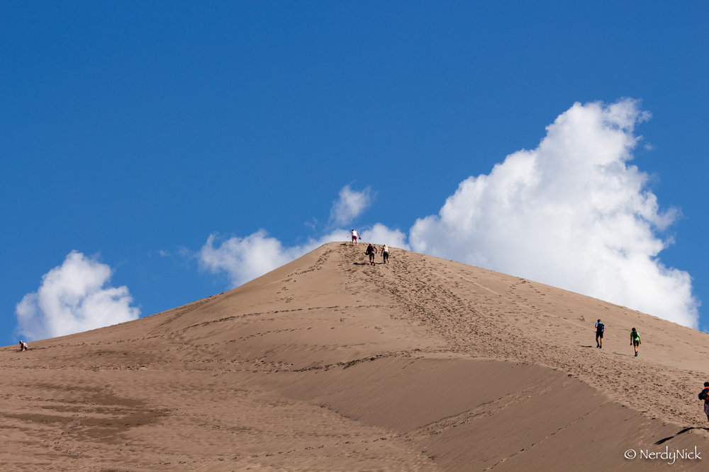Making it to the top of High Dune