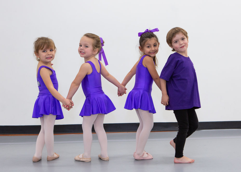 Ballet/Tap & Ballet/Hip-Hop   2.5yrs - 3yrs & 3 - 4yrs   Combo class with Ballet & either Hip-Hop or Tap.  Bella Ballet twirls your child through stories & games, opening up the world of creative movement using your child's imagination, personalised songs, props & ballet vocabulary. Whether next up is tap or hip-hop, your child will learn fine motor skills, musicality, counting, taking turns & just how much fun the world can be when you know how to tell stories using your feet.3yrd