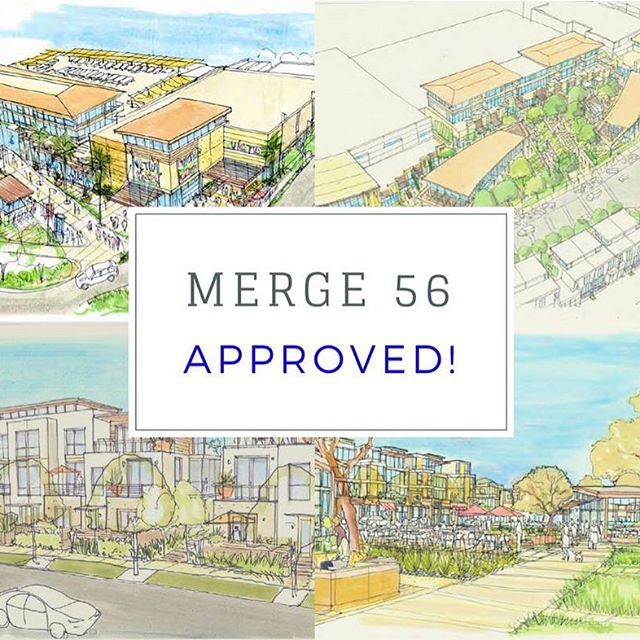 The Merge 56 Project in the Torrey Highlands community of San Diego was unanimously approved by San Diego City Council. The project will contain restaurants, movie theatre and grocery store in a walkable village like shopping center. Much needed in my opinion. #merge56 #torreyhighlands #pq #ranchopenasquitos #offthe56