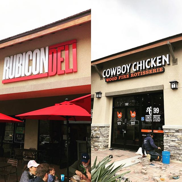Two new restaurants in 4S Ranch  Rubicon Deli 🥪 (Now Open) Cowboy Chicken 🐔 (Coming Soon) #offthe56 #4sranch #northcountyeats #4sranch #delsur #pq #ranchopenasquitos