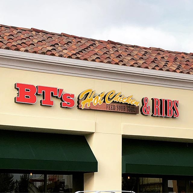 BT's BBQ is now BT's Hot Chicken & Ribs. We'll be checking out the new menu soon!  #torreyhighlands #ranchopenasquitos #btshotchickenandribs #chickenandribs #pq #delsur