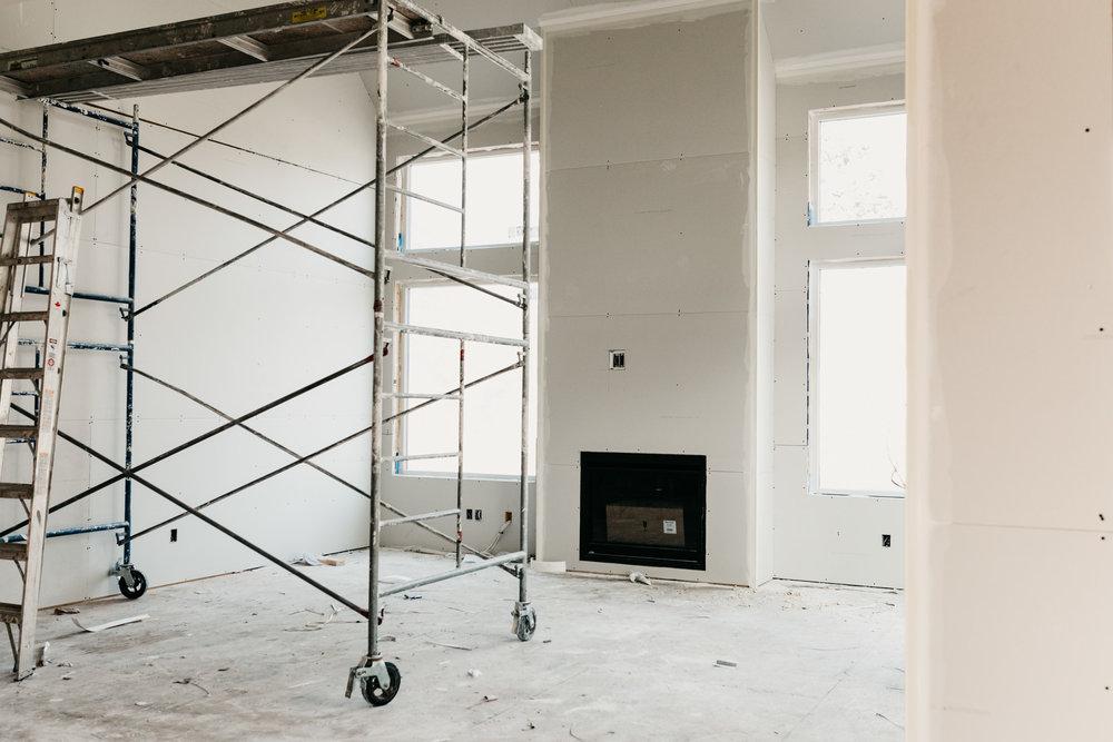 Custom home build, Lanstone Homes, MacLean Bros. Drywall