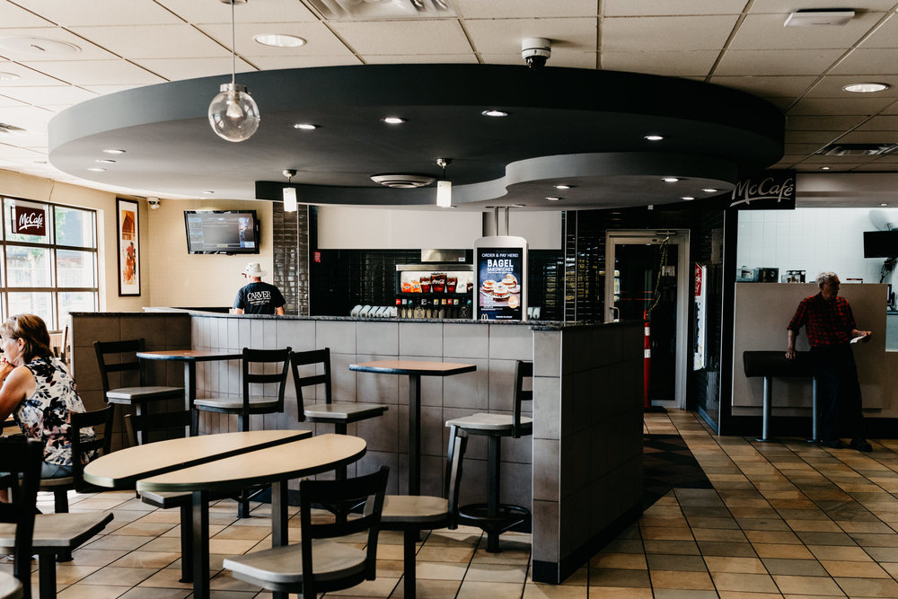 Commercial tenant improvement MacDonalds MacLean Bros. Drywall