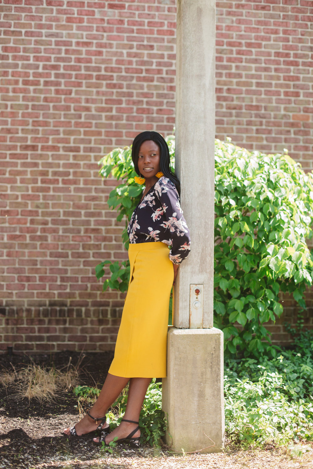 Skirt: Gabrielle Union Collection Knit Pencil Skirt  Sienna blush color version  here  with its matching blouse  here  ; and yellow dress version  here