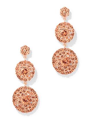 Beaded Circular Drop Earrings (multiple color options) here