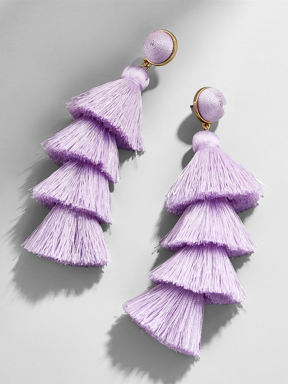 Gabriela Stud Tassel Earrings (9 different colors)  here   Can pair these with Steven Madden heels  here and  here , with matching handbag  here