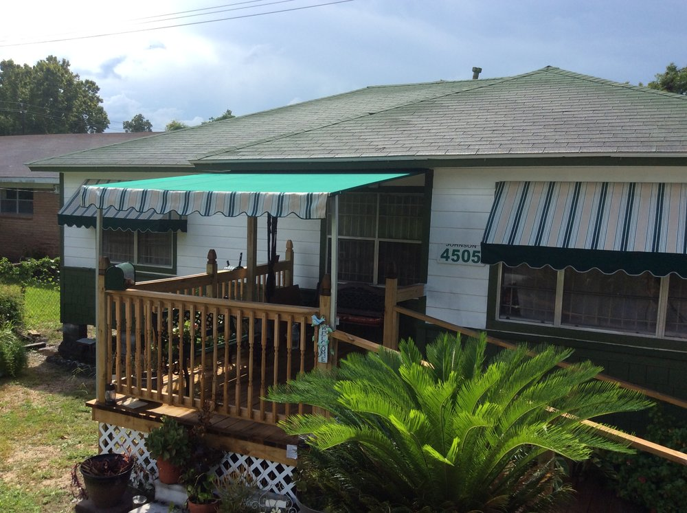 Patio Awning and Standard Drop and Projection Window Awning.JPG