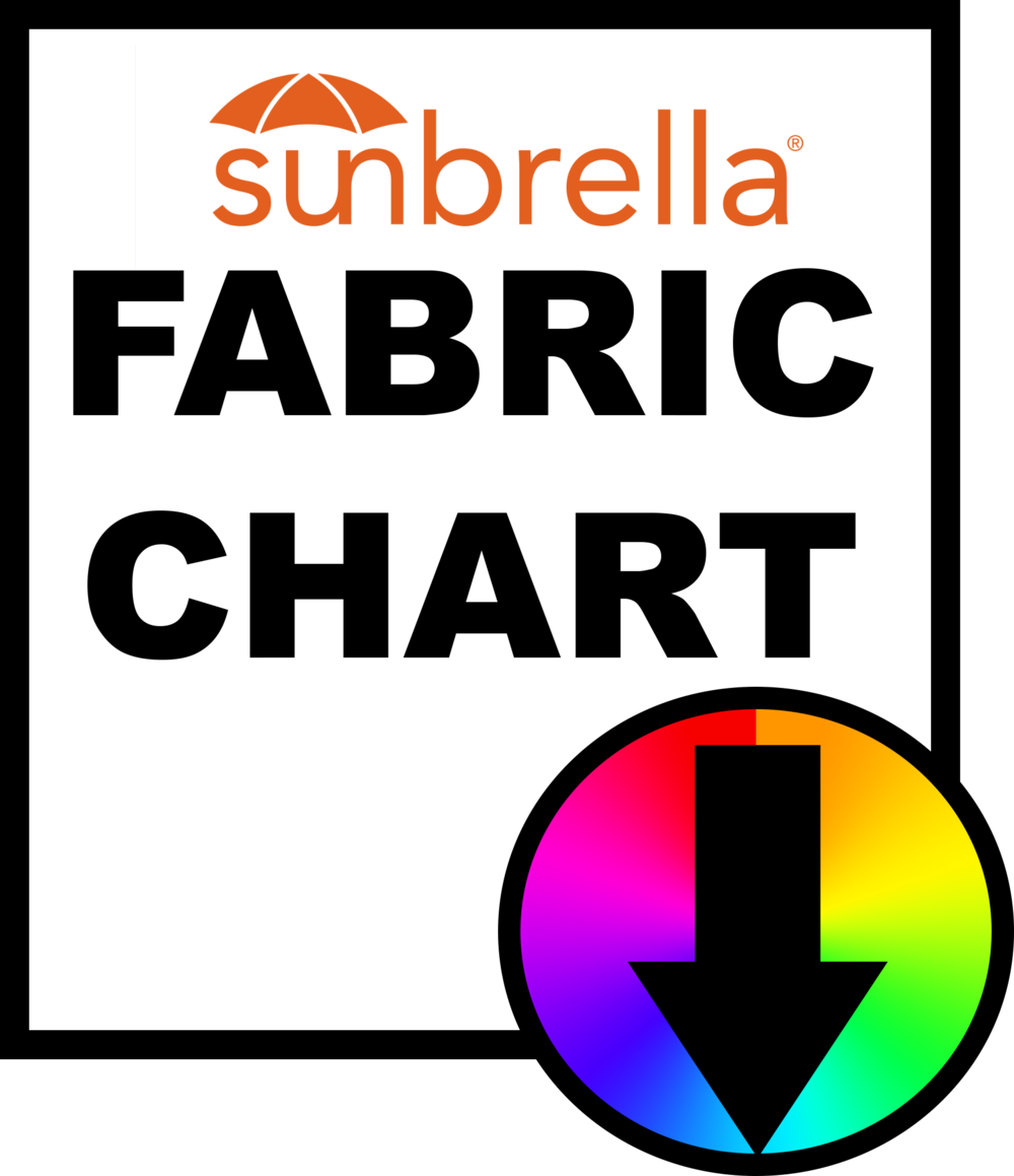 2). FABRIC OR METAL AWNING - Select your Fabric In-Store or from Sunbrella our fabric distributors.  Click Here to Select your Fabric.