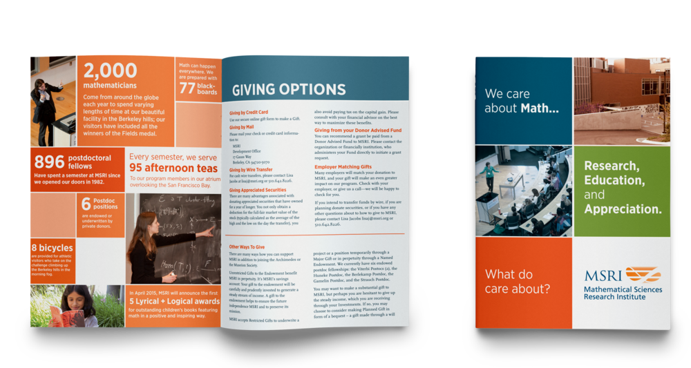 Fundraising brochure for a math education organization